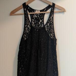 Black lace aritzia tank